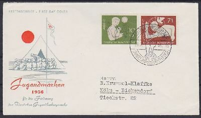Bund FDC 232 - 233 mit SST Hannover Messe 1955, first day cover