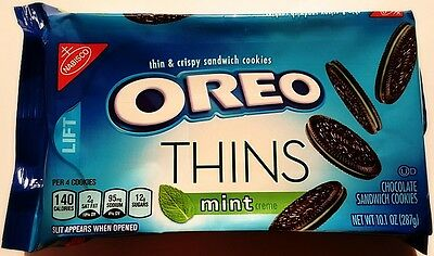 NEW Nabisco Oreo Thins Mint Flavor Creme Cookies FREE WORLDWIDE SHIPPING (Oreo Mint)