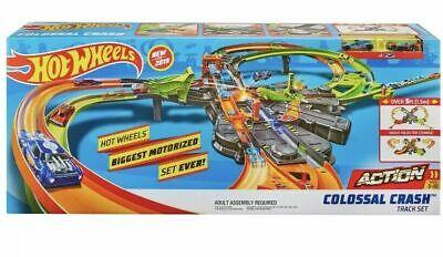 Hot Wheels GFH87 Colossal Crash Mega Track Set Playset New