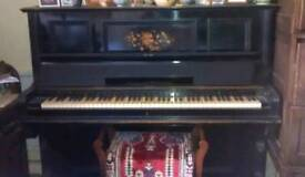 Beautiful vintage piano. Statement piece as it is or as an upcycle project see photo 4 for ideas