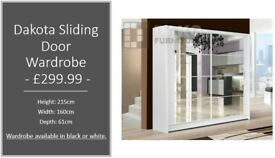 Dakota Sliding Door Wardrobe -160cm