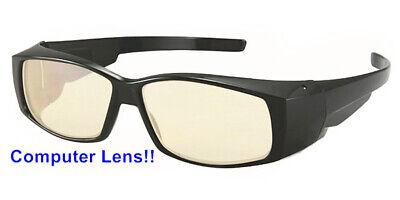 Computer Linse Passend über Meisten Brille Sonnenbrille Block Hellblau Black /