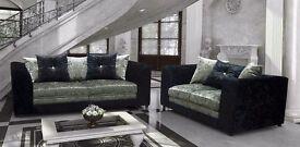 **Stylish dylan velvet sofas**see pictures