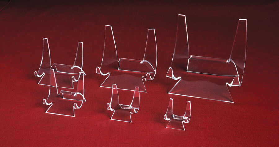 ~#Plate Dish Dinnerware Tile Acrylic Display Stand Easel Hol