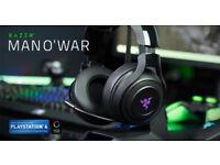Razer Man O War Headset 7.1 Wireless RGB Chroma (PC & Ps4 compatible)