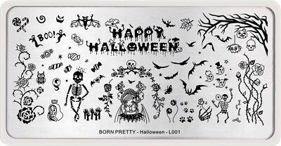 BORN PRETTY Nail Art Stamping Plates Zombie Bride Bat Design  Halloween Day L001