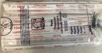 Falcon 357551 Serological Pipettes Polystyrene 50 Sealed 10ml