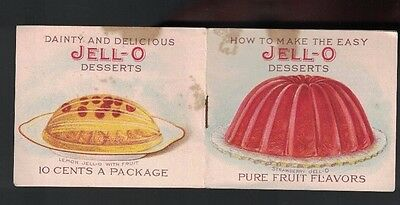 How to Make the Mild Jell-O Desserts booklet- Genesee Pure Food Co (LeRoy NY)