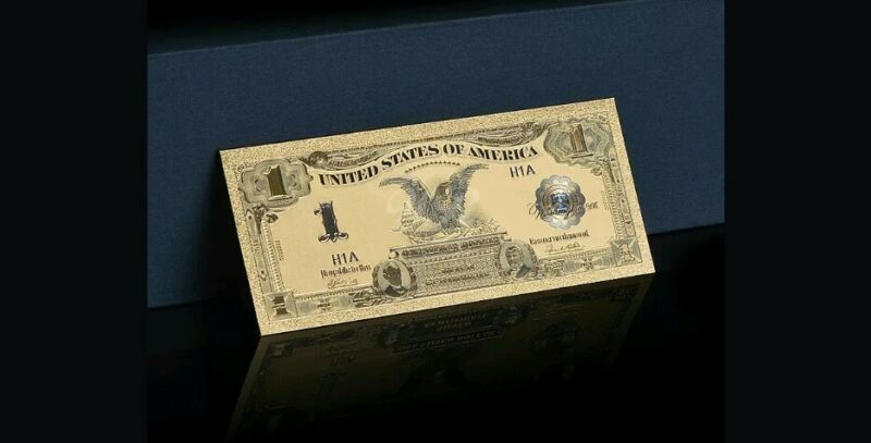 GEM 1899 $1 SILVER CERTIFICATE BLACK EAGLE Rep.*GOLD Banknote DOLLAR~STUNNING!
