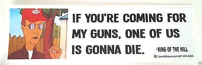 ***IF YOU'RE COMING FOR MY GUNS...*** Pro-Gun Pro-Trump Bumper Sticker L