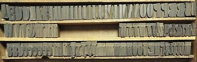 1874 1 18 Tall Doric Condensed Wooden Typeset By William Page - 87 Pieces.