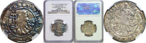 1396-1421 Rhodes Silver Gigliato Philibert Of Naillac NGC VF 20 Malloy-27B