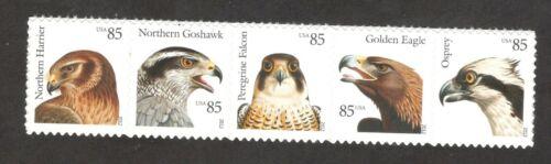 4608-4612 Birds Of Prey Strip Of 5 Mint/nh (Free Shipping)