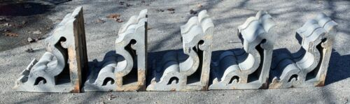 Antique 19th c Victorian Large Corbels Architectural Salvage Shelf Brackets 1880