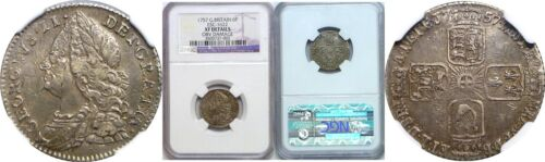 1757 Great Britain George II Silver 6 Pence NGC Extra Fine Details KM# 582.2