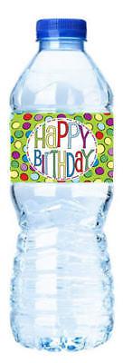 Happy Birthday-Retro- Water Bottle Labels-12pack - Retro Happy Birthday