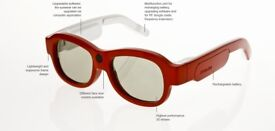 XPAND X104 YOUniversal Electronic BT & IR 3D Active Glasses - Red (S)