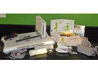 Wii console, WiiFit board, hand sets, leads, Wii Sport, WiiFit - excellent condition