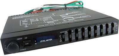 SX AUDIO CAR AUDIO PASSIVE EQUALIZER 1/2 Din 7 BAND PRE AMP EQ SUB CROSSOVER