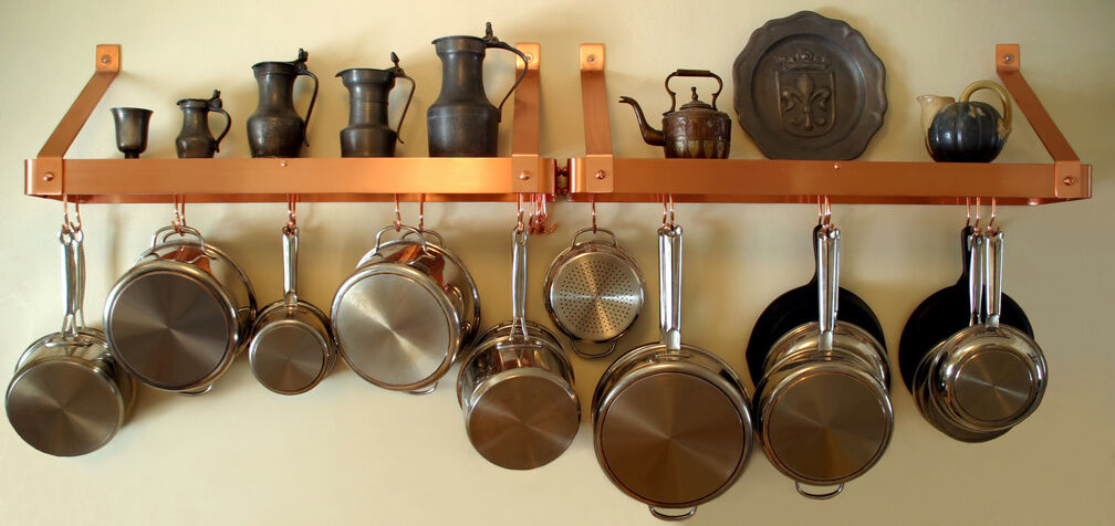 Perfect How To Make A Hanging Pot Rack Amazing Design