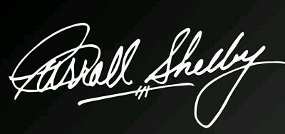 - Carrol Shelby Autograph Signature Vinyl Decal Sticker - Shelby GT350 GT500 Cobra