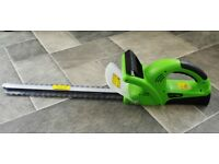 18in hedge cutter, battery powered, barely used hence like new.