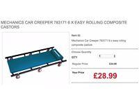 MECHANICS CAR CREEPER 783171 6 X EASY ROLLING COMPOSITE CASTORS