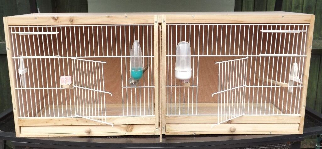 WOODEN DOUBLE BREEDING CAGE