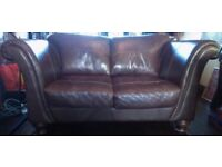 Free DFS Brown Leather Sofa(s) - 2 seater and 3 seater