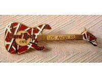 Hard Rock Cafe Pin - Los Angeles Van Halen Red Kramer Guitar - Unused/Mint Condition