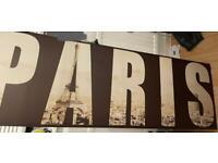 Large Paris canvas picture
