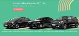 PCO CAR HIRE UBER-BOLT-OLA READYTOYOTA PRIUS HYBRID HYUNDAI IONIQ PLUG IN HYBRID special offer