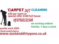 carpet cleaning in Leeds, surrounding areas West Yorkshire full house £100 or £30 per room