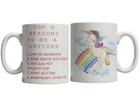 Unicorn Mug Top 6 Reasons To Be A Unicorn Mug Cup Rainbow Girlfriend Present Birthday Gift
