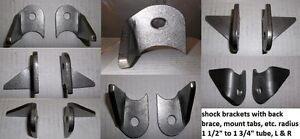"H/D MOUNTING TAB WITH BACK BRACE, 1/4""THICK STAMPED STEEL $5.00"