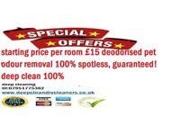 £30 per room -spotless, guaranteed! deep clean 100%