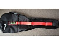 Tiger Electric Guitar Bag & Strap with Pick Holders + USA Dunlop Tortex .88mm Green picks
