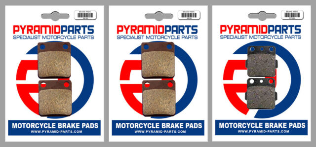 Yamaha YFZ 350 Banshee 90-06 Front & Rear Brake Pads Full Set (3 Pairs)