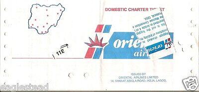 Airline Ticket   Oriental   Domestic Charter  Nigeria   T68