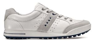 Ecco Street Golf Shoes 039184 54301 White/Blue Sz 11 NEW EU 45
