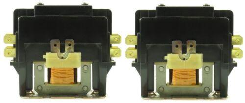 (2) CN-PBC302-24V Definite Purpose Contactors 30 Amp 2 Pole 24V Coil HVACR