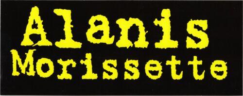 Sticker - Alanis Morissette Black Yellow Alternative Rock Pop 1990s Decal #23026