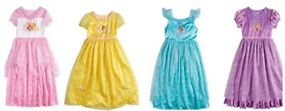 Disney Fantasy Nightgown Play Dress-Up Princess, Ariel, Belle, Rapunzel 4 6 NWT - Disney Princess Dressing Up