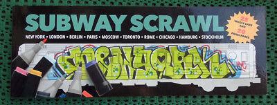 "Graffiti Mal-Sketch-Block Buch ""SUBWAYS"" Graffiti Illustration Trains Montana"