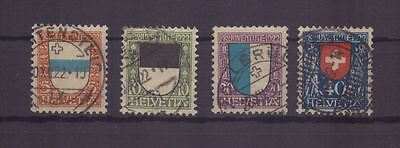 Schweiz 175-178 gestempelt, Pro Juventute