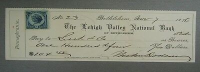 Commercial Draft Check On Lehigh Valley National Bank