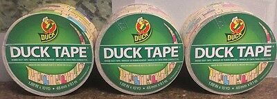 Lot Of 48 Duck Brand Duct Tape City Skyline 1.88 X 10yd Per Roll 48mm 2 Cases