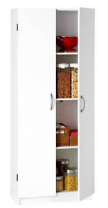 3 Storage Cabinets with Shelves and Doors