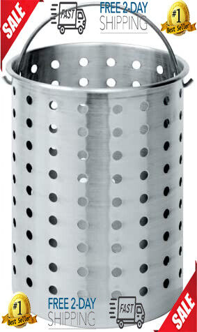 Aluminum Basket Strainer Perforated Pot Turkey Boiler Deep F