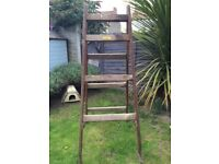 Vintage Cayless of Battersea branded trestle.. shop display .. ladder. Shelving